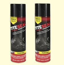 Rubberized Aerosol Undercoating (2 - 16 oz Spray Cans) Paintable  Dampens Sound
