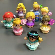 5PCS Fisher Price Little People Disney Princess Figure Baby Kids Doll Random
