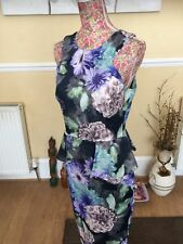 Coast Cora Floral Wiggle Dress  size 10 Pristine Hols Day 9.5-16.6