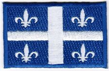 Quebec Provincial Flag Patch Embroidered Iron On Applique