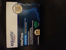 Equate NiteTime Cold & Flu Relief Multi Symptom 24 Softgels (2pk) Exp 10/22