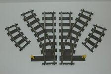 Lego 9V Eisenbahn TRAIN 4531 Weichenpaar Weichen SWITCH POINTS TRACKS