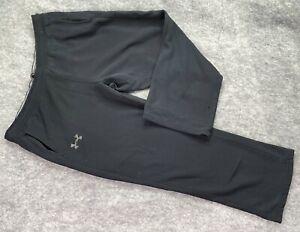 """Under Armour Storm Sweatpants Men Extra Large Black Loose Coldgear Cotton 31"""""""