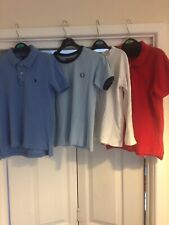 Job Lot Boys Designer T-Shirts X3 Ralph Lauren, Fred Perry, Lyle And Scott Age 5