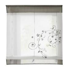 Lifting Embroidery Small Window Drape Roman Curtain Sheer 80x100cm Grey