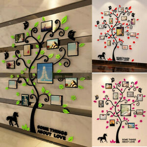 DIY Tree Photo Wall Family Frame Removable Pictures Hanging Room Sticker Decals