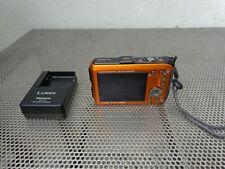 Panasonic LUMIX DMC-TS4 12MP Digital Camera Orange with DE-A59 Charger Battery