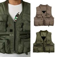 Waterproof  Fishing Vest Outdoor Multi Pocket Vest Waistcoat Men Fishing Jackets