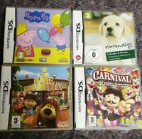 4X Nintendo DS Children's Games 💿 Peppa Pig, Dogs, Carnival, Roundbout FREE P&P