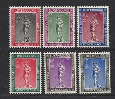 LUXEMBOURG - B79 - B84 - MH - 1937 - WENCESLAS II