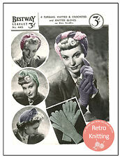 1940s Wartime Turbans and Gloves Knitting Pattern - Copy