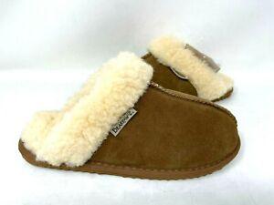 Bearpaw Women's Fiona Wool Lined Slip On Slippers Brown #2404W Size:10 141O tz