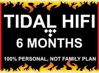 6 Months Tidal Hi-Fi   Masters Quality  Instant Delivery   BOGO