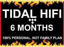6 Months Tidal Hi-Fi | Masters Quality| Instant Delivery | BOGO
