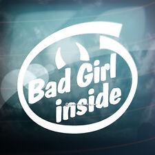 BAD Girl Inside corna divertente Auto, Paraurti, Finestrino JDM DUB Euro Vinile Adesivo Decalcomania