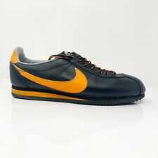 Nike Mens Id Cortez 331985-981 Black Yellow Running Shoes Lace Up Size 10.5