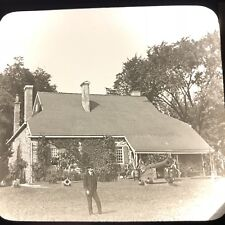 Vtg Magic Lantern Glass Slide Photo Keystone Washington Headquarters Newburgh
