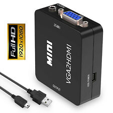 VGA to HDMI conversion Box 1080P HD TV AV HDTV Video Cable Converter with Audio