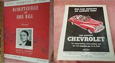 1947 Stage Program MANHATTANVILLE EDEN HALL Detroit MUSIC HALL Benefit -FreeSHIP