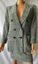 CARLA CARINI  TAILLEUR Completo GONNA + GIACCA TG.44 in LANA 85% VINTAGE