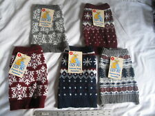 Cozy Pet Dog Knit Sweater Small - Winter Patterns Dark Blue Snowflakes