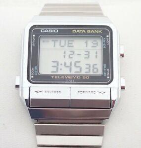 VINTAGE MENS CASIO DATA BANK DB-500 QUARTZ WRISTWATCH WATCH