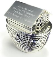 Personalised Engraved Silver Noah's Ark Money Box - Free Delivery