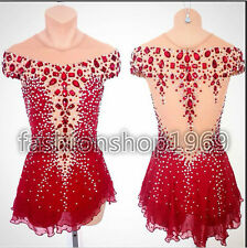 Ice Figure Skating Dress  Baton Twirling Dress custome Dance Competition xx237
