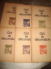 ART & DECORATION 1920 1er Sem. 6/6 ART DECO RUHLMANN MAROC JOUVE MESSAOUDA