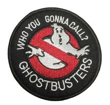 "Ghostbusters ""Who You Gonna Call?"" 3"" Diameter Embroidered Iron On Patch"