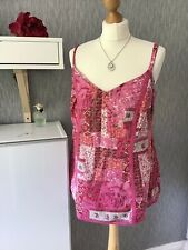 Per Una Size 18 Pink Strappy Lined Cotton Summer Top