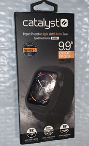 Catalyst Black Anti-Shock Compact Case for Watch Series 4/5 44mm