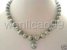 RARE High TAHITIAN PEARL NECKLACE WITH PENDANT 20inch
