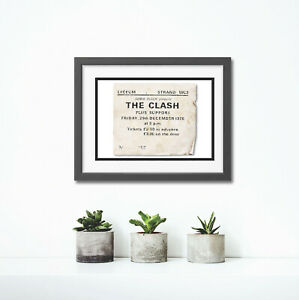 The Clash Concert Ticket Stub Fine Art Print A4