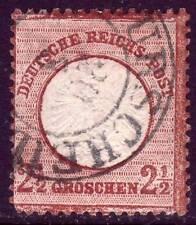 DEUTSCHES REICH Mi. #21 scarce used VF Brustschild Shield stamp! CV $120.00