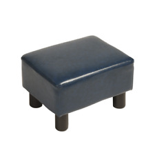 Modern Small Ottoman Footrest PU Leather Footstool Rectangular Seat Stool,7Color