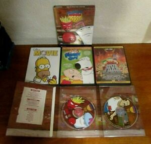 Adult Cartoons DVD Lot- Aqua Teen Hunger Force, Simpsons, South Park, Family Guy