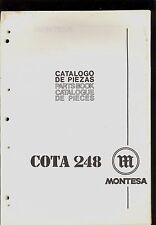 MONTESA COTA 248  MOTORCYCLES PARTS MANUAL
