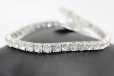 Special Christmas Offer 3ct Round Natural Diamond Tennis Bracelet,White Gold