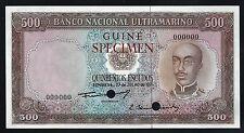 PORTUGUESE GUINEA 1971 Pick 46- 500 ESCUDOS Color Trial SPECIMEN