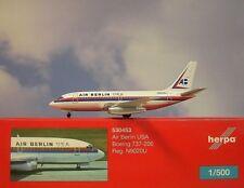 Herpa Wings 1:500 Boeing 737-200 Air Berlin USA n9020u 530453 modellairport 500