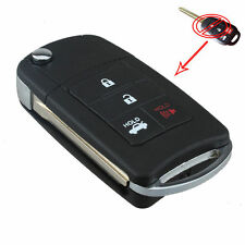 4 Button Case Shell Folding Flip Key Remote Fob For Toyota Reiz Corolla Camry
