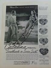 1938 Catalina sweethearts swimsuit Wayne Morris Priscilla Lane vintage ad