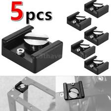 "5 IN 1 DSLR Camera 1/4"" Hot Cold Shoe Flash Bracket Light Monitor Mount Adapter"