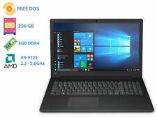 "Notebook Lenovo black pc portatile 15,6""AMD A4 Ram 8Gb SSd 256Gb Free Dos"