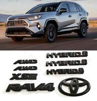 Matte Black Hybrid Blackout Overlay Emblem Badge Fit 2019-20 Toyota Rav4 Xse OEM