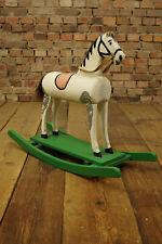50er Rockabilly Schaukelpferd Holzpferd Pferd Vintage Holzspielzeug Mid-Century