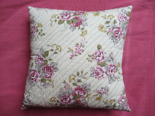 Amazing hand quilted (pick stitch) cabbage rose cushion cover