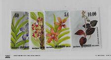 SRI LANKA Sc 722-25 NH issue of 1984 - FLOWERS