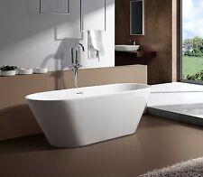 "aM771 59"" SMALL MODERN FREE STANDING BATHTUB & CHROME FAUCET cUPC LISTED BATHTUB"